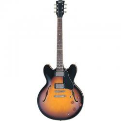 Электрогитара типа Gibson® ES®-335 с кейсом, Brown Sunburst BURNY RSA65 BS