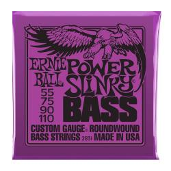 Струны для бас-гитары Nickel Wound Bass Power Slinky (55-75-90-110) ERNIE BALL 2831