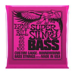 Струны для бас-гитары Nickel Wound Bass Super Slinky (45-65-80-100) ERNIE BALL 2834