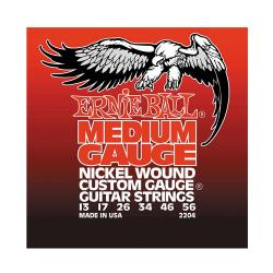 Струны для электрогитары Nickel Wound Medium (13-17-26-34-46-56) ERNIE BALL 2204