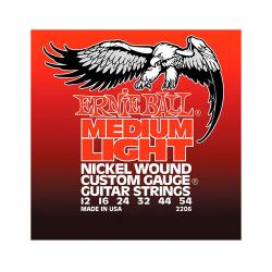 Струны для электрогитары Nickel Wound Medium Light (12-16-24w-32-44-54) ERNIE BALL 2206