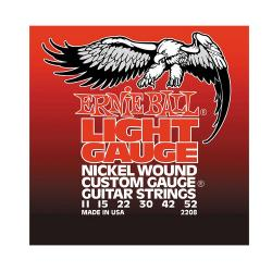 Струны для электрогитары Nickel Wound Light (11-15-22w-30-42-52) ERNIE BALL 2208