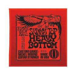 Струны для электрогитары Nickel Wound Skinny Top Heavy Bottom (10-13-17-30-42-52) ERNIE BALL 2215