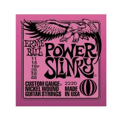 Струны для электрогитары Nickel Wound Power Slinky (11-14-18p-28-38-48) ERNIE BALL 2220