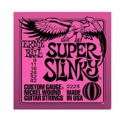 Струны для электрогитары Nickel Wound Super Slinky (9-11-16-24w-32-42) ERNIE BALL 2223