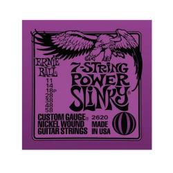 Струны для 7-струнной электрогитары Nickel Wound Power Slinky (11-14-18p-28-38-48-58) ERNIE BALL 2620