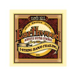 Струны для 5 стр. банджо Earthwood 80, 20 Bronze Frailing (10-13-15-24w-10) ERNIE BALL 2061