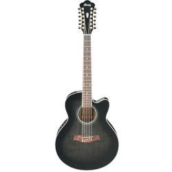 Акустическая гитара IBANEZ AEL2012E Transparent Black Sunburst