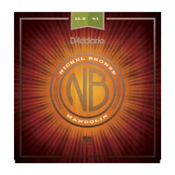 Комплект струн для мандолины, фосф/бронза, Medium-Heavy, 11.5-41 D'ADDARIO NBM11541 Nickel Bronze