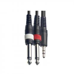 Аудио шнур Jack mini (stereo) - 2xJack mono (3,0м) FORCE FLC-38/3