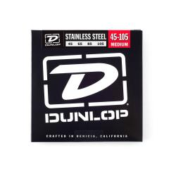Струны для бас-гитары DUNLOP DBS Stainless Steel Bass 45-105