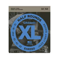 Струны для электрогитары, Jazz Light, Half Round 12-52 D'ADDARIO EHR-350
