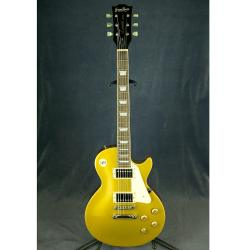 Электрогитара Les Paul, изготовлена в 2004 году GRASSROOTS G-LP-60S Gold Top