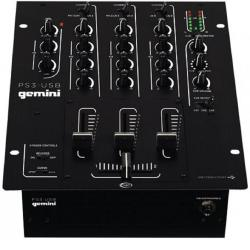 DJ микшер 3 канала LINE/PHONO 3 -band EQ, + MIC вход 2 -band EQ , USB выход GEMINI PS3-USB