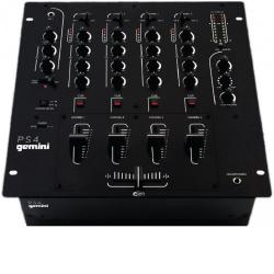 DJ микшер 4 канала LINE/PHONO 3 -band EQ, + MIC вход 2 -band EQ GEMINI PS4